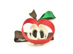 Apple hair clip