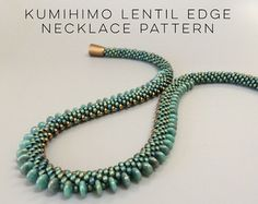PDF Pattern  Kumihimo Triple Dagger Necklace