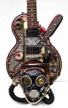 #Steampunk #Gasmask #Guitar #Gibson