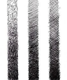 Cross hatching is probably the most likely texture that I will use in my design and I think it is very effective as it can be made dense or scattered to create a lighter or darker effect