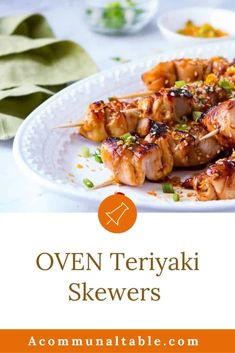 EASY BAKED TERIYAKI CHICKEN SKEWERS are a healthy weeknight dinner that everyone will love! Topped with a Sesame, Orange & Chili sprinkle, this chicken on a stick is a dish everyone will love! #chicken #chickenrecipes #kebabs #easydinners Fast Chicken Recipes, Healthy Meat Recipes, Grilled Chicken Recipes, Grilled Food, Easy Cheap Dinner Recipes, Quick Easy Meals, Easy Recipes, Teriyaki Chicken Skewers, Chili
