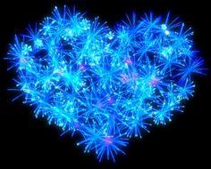 Blue Fireworks Heart