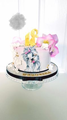 Yorkie Cake by SWEET ART Anna Rodrigues
