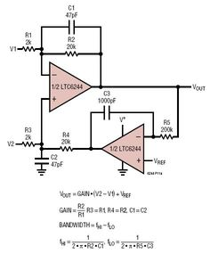 Low Noise AC Difference Amplifier