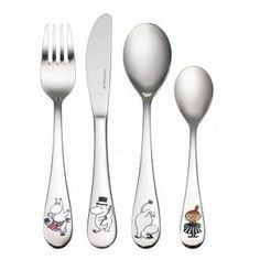 Beautiful Moomin cutlery set featuring the moomin characters!