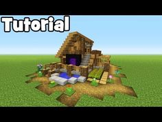 Minecraft Tutorial: How To Make A Easy Starter House (Ultimate Survival House) - YouTube