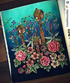 Pintura maravilhosa by @daphnesgallery #aşkileyap Blomster mandala-Maria Trolle…