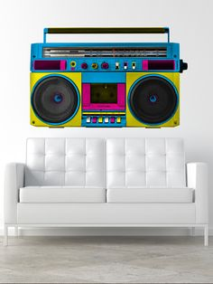 Retro Boombox Wall Decal by Walls Need Love at Gilt