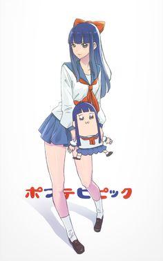 Pop Team Epic Anime Nerd, Manga Anime, Anime Life, Chino Anime, Character Art, Character Design, Anime Galaxy, Voltron Memes, Digital Art Girl