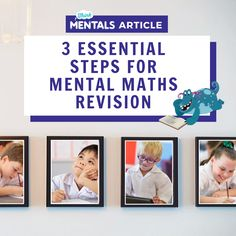 Think Mentals - 3 essential steps for mental maths revision Essentials, Math, Reading, Mathematics, Word Reading, Math Resources, Reading Books, Libros