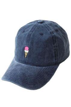 Ice Cream Embroidered Weekend Baseball Hat - Blue - Dempsey & Gazelle