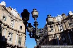 Street lamp at Piazza Quattro Canti Palermo