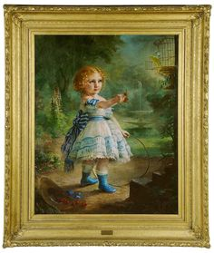 CONVERSATION PIECE MOTHER FATHER BABY PAINTING BY LILLY MARTIN SPENCER REPRO