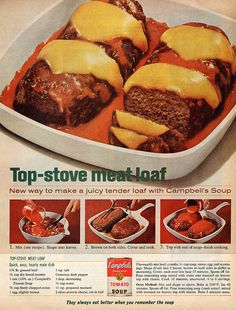 40 trendy ideas for meat loaf recipes with stove top ovens Meatloaf Recipes, Meat Recipes, Cooking Recipes, Cooking Ideas, Delicious Recipes, Dinner Recipes, Retro Recipes, Vintage Recipes, Cooking