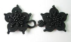 Cute black flowers