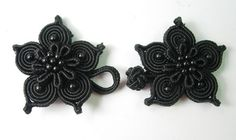 Cute black flowers