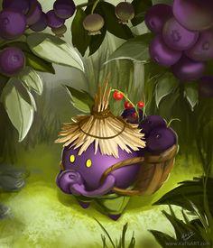 Fruit Eater, Katarzyna Zielinska on ArtStation at https://www.artstation.com/artwork/8o4AR