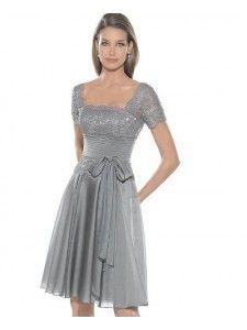 Kwadrat Linia A Szyfon Sukienki Koktajlowe #USAed0828
