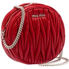 Miu Miu Moon Bag ($915) ❤ liked on Polyvore featuring red