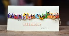 Quilled farewell owls card by Aniutka | docrafts.com
