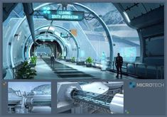 Star Citizen_MicroTech Bridgeway, Ken Fairclough on ArtStation at Spaceship Interior, Futuristic Interior, Futuristic City, Futuristic Design, Futuristic Architecture, Star Citizen, Future City, Sci Fi Stadt, Sci Fi City