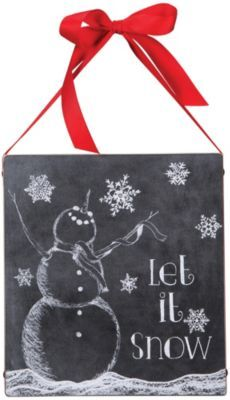 Primitives By Kathy Let It Snow Chalkboard Sign