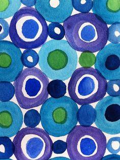 lovely pattern bubbles blue green purple