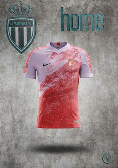 Shirt mock'up AS Monaco home kit Concepts by Vitalyi Football Pitch, Football Jerseys, Team Shirts, Sports Shirts, Football Logo Design, Cricket T Shirt, Sport Shirt Design, Shark Logo, Jersey Outfit