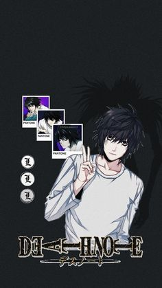 Death Note Wallpaper Iphone, L Wallpaper, Cute Anime Wallpaper, Death Note Funny, L Death Note, Mystic Messenger, Otaku Anime, Anime Guys, Charlotte Anime