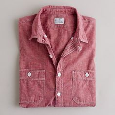 Red chambray.