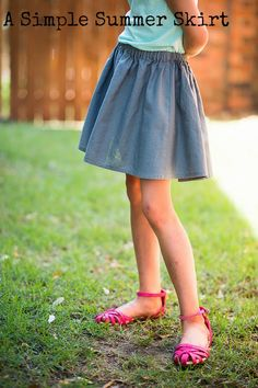 Stitched Together: A Simple Summer Skirt : A Tutorial