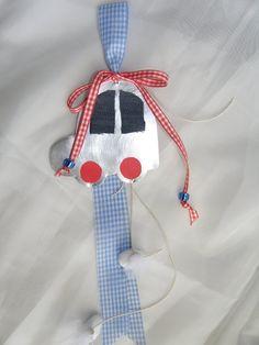 Μπομπονιέρα μεταλλικό αυτοκινητάκι με τζιν