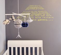 Star wars baby nursery ... makes me want to have another baby!