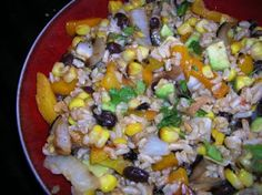 Grilled Corn Salad with Black Beans and Rice by: Jennifer - Oh Sweet Basil