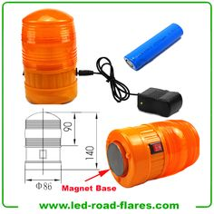 Commerical Contractor Magnet LED Flash Light with Emergency Safety Warning Flash