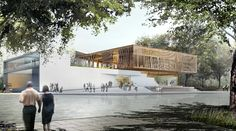 Studio Gang Breaks Ground on Chicago Writers' Theatre Main Entrance . Image Courtesy of Studio Gang Architects
