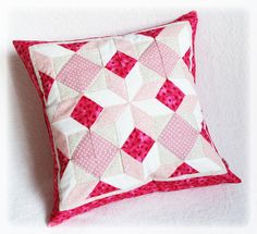 This is my first real patchwork pillow. With pritty much mistake and full of love inside. :)