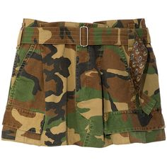Marc Jacobs Army Cargo Pocket Short ($395) ❤ liked on Polyvore featuring shorts, military green multi, short shorts, army cargo shorts, print shorts, army camo shorts and patterned shorts