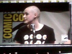 Twitter / totalfilm: Karen Gillan's shaved her head for Guardians! #Marvel #SDCC #Nebula
