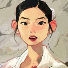 "Tried to paint Dahyun but didn't quite like it… Gonna make a new one..But their new song ""cheer up"" is amazing :D"