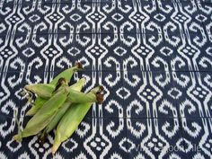 Ethnic look Ikat design cement tile...Villa Lagoon Tile, #cement_tile, #Cuban_tile, #encaustic_tile