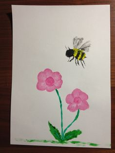 """""""Busy Bee"""" - acrylic painting"""