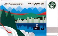 Vancouver Anniversary Starbucks Card - Closer Look! Starbucks Rewards, Vip Card, All Gifts, Starbucks Coffee, 25th Anniversary, Vancouver, Closer, Countries, Canada