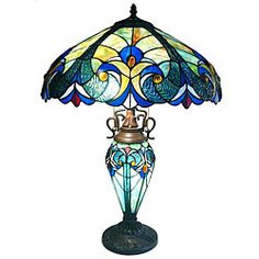 Tiffany-style Double Lit Table Lamp | Overstock.com Shopping - Great Deals on Tiffany Style Lighting