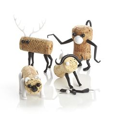 """Corkers"" Crate & Barrel. Comes with all the pieces to put into a cork and make one of these little guys!"