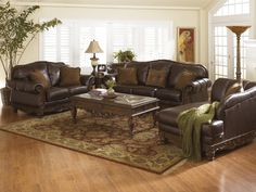 Ashley North Shore Dark Brown Sofa and Loveseat - Mason Furniture And Mattress
