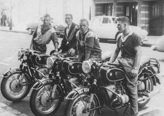 One of my father's favourite photographs: Duck Tails 1958 African Life, Riders On The Storm, Motorcycle, History, Photographs, Wheels, Boards, Vintage, Bmw Motorrad