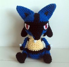 Hi guys!! Today I'm uploading this Lucario pattern, it's a cute version of the character. Hope you like it! ^^ Materials: – Blue, black and light yellowyarn (I used 100% cotton yarn Ba…