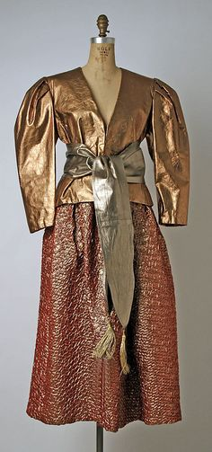Ensemble, Bill Blass, 1981, American, synthetics and leather