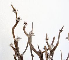 The Birds Tree  Wood Branches Metal Birds and by GiftsandStars, $152.00